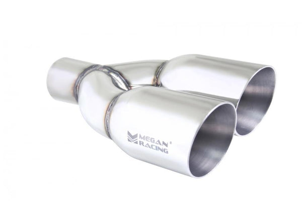 "Megan Racing Twin 3.5"" Stainless Chrome Tips - 2.5"" Piping (MR-UT-TRT-PS)"