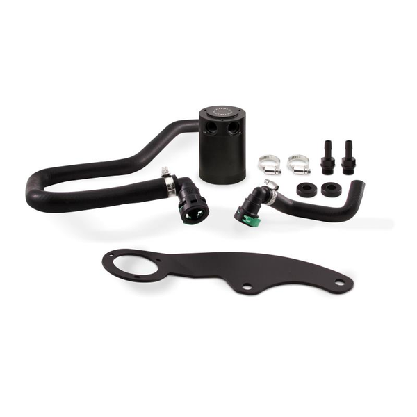 Mishimoto Baffled Oil Catch Can Kit - PCV Side | 2011-2014 Ford Mustang GT (MMBCC-MUS8-11PBE2)