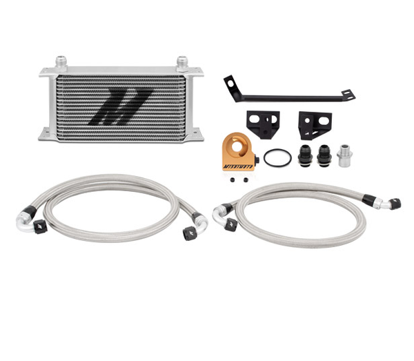 Mishimoto Thermostatic Oil Cooler Kit - Silver | 2015+ Ford Mustang Ecoboost (MMOC-MUS4-15TSL) - Modern Automotive Performance  - 1