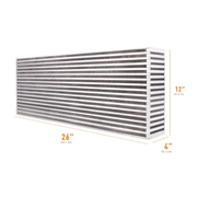 "Mishimoto Air-to-Air Intercooler Core - 26"" x 12"" x 4"" (MMUIC-03)"