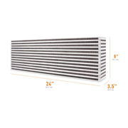 "Mishimoto Air-to-Air Intercooler Core - 24"" x 8"" x 3.5"" (MMUIC-05)"