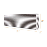 "Mishimoto Air-to-Air Intercooler Core - 24"" x 12"" x 4"" (MMUIC-06)"