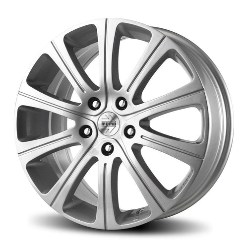 "MOMO Win 2 5x112 15x6.5"" +40mm Offset Glossy Silver Wheels"