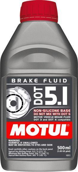 Motul DOT 5.1 High Temp. Brake Fluid | 0.5L (100951)