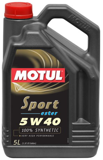 Motul 5W40 100% Synthetic-ester Sport Oil | 5L Bottle (105700)