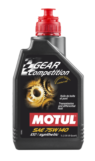 Motul Gear Competition 100% Synthetic Gearbox & LSD Oil 75W140 | 1L (105779)