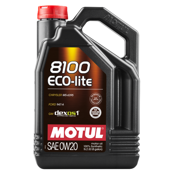 Motul 5L 8100 ECO-lite 0W20 Synthetic Engine Oil (108536)
