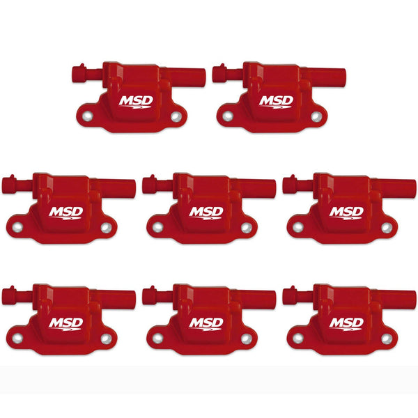 MSD Blaster LS Coils - 8 Pack | 2005-2013 GM LS2/LS3/LS4/LS7/LS9 Engines (82658)