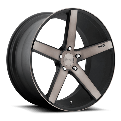 "Niche M134 Milan 5x120 20"" Black & Machined Wheels"