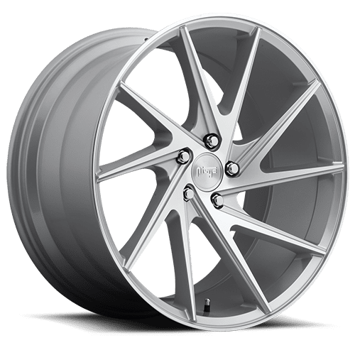 "Niche M162 Invert 5x114.3 20"" Silver & Machined Wheels"