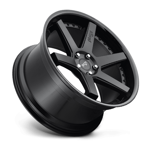 "Niche M192 Altair 5x120 20"" Matte Black w/ Gloss Black Lip Wheels"