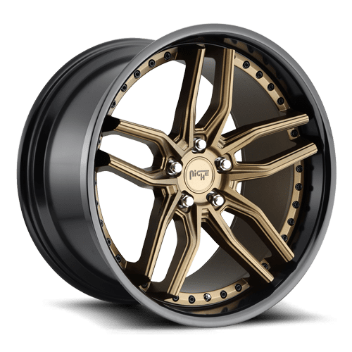 "Niche M195 Methos 5x114.3 20"" Bronze w/ Gloss Black Lip Wheels"