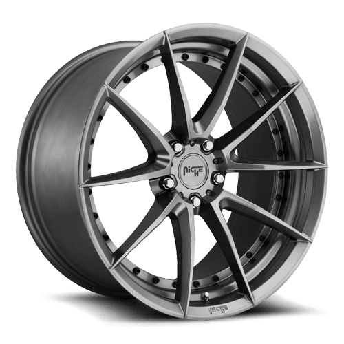 "Niche M197 Sector 5x114.3 19"" Gloss Anthracite Wheels"