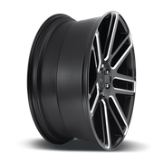 "Niche M096 Élan 5x127 20x9.0"" +35mm Offset Gloss Black & Milled Wheels"