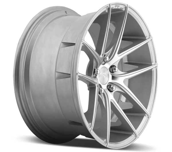 "Niche M131 Targa 5x120 17x8.0"" +40mm Offset Silver & Machined Wheels"