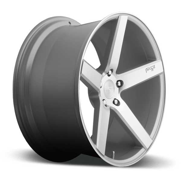 "Niche M135 Milan 5x114.3 18"" Silver & Machined Wheels"