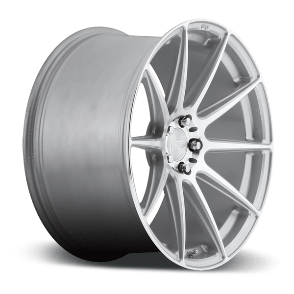 "Niche M146 Essen 5x120 19x8.5"" +35mm Offset Silver & Machined Wheels"