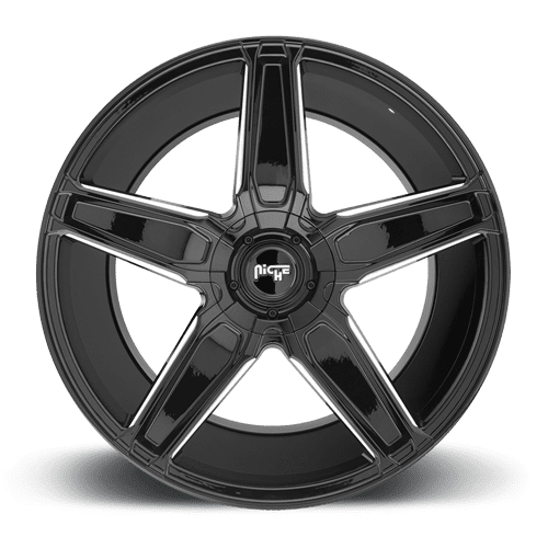 "Niche M180 Cannes 5x112/120 20x9.0"" +25mm Offset Gloss Black & Milled Wheels"