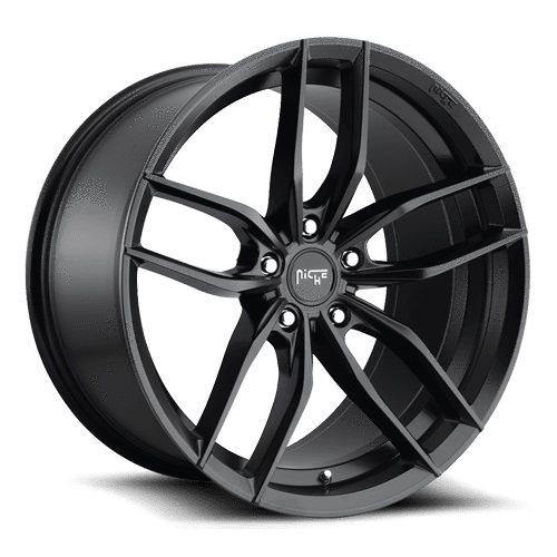 "Niche M203 Vosso 5x100 17x8.0"" +40mm Offset Matte Black Wheels"