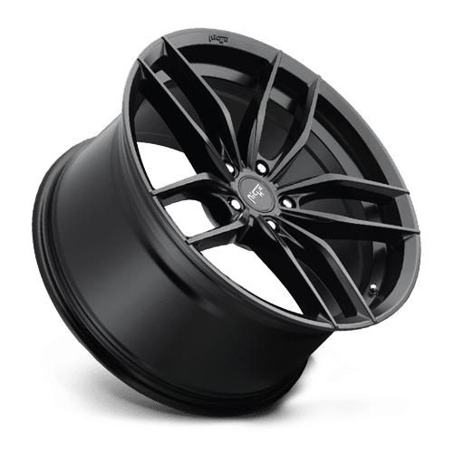 "Niche M203 Vosso 5x120 18x8.0"" +40mm Offset Matte Black Wheels"