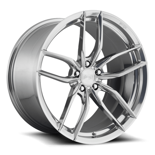 "Niche M211 Vosso 5x112 22x10.5"" +40mm Offset Gloss Silver Wheels"