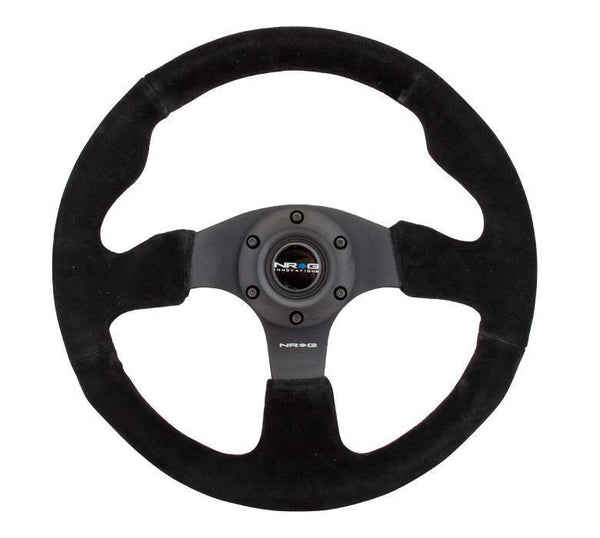 NRG 320mm Sport Suede Steering Wheel Race