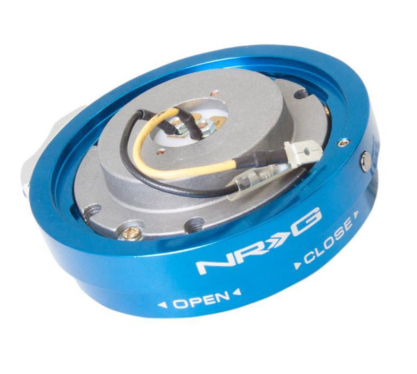 NRG Steering Wheel Thin Quick Release Blue - Modern Automotive Performance