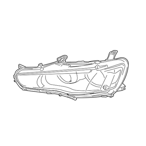 OEM Mitsubishi Halogen Headlight Assembly (No LED) | 2008 Mitsubishi Evo X