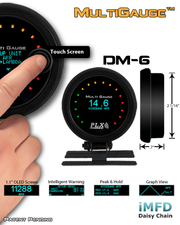 PLX Devices DM-6 Multi Gauge - Modern Automotive Performance  - 2