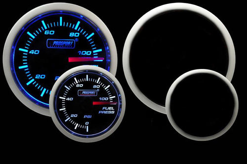 Prosport 52mm Fuel Pressure Gauge w/Sender (Blue-White) - Modern Automotive Performance