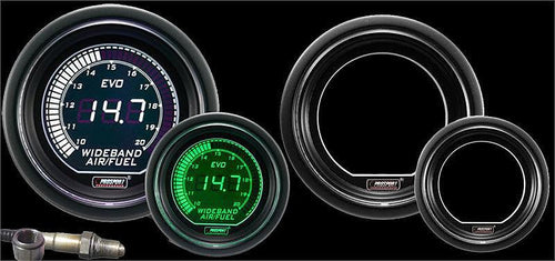 Prosport 52mm Green/White Wideband Kit (216EVOWGAFRWB4.9-WO)