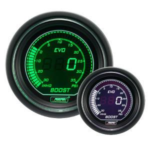 Prosport Evo Series Electrical Boost Gauge (Green & White) - Modern Automotive Performance
