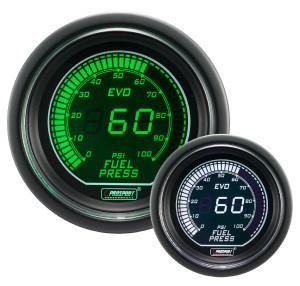 Prosport Evo Series Electrical  Fuel Pressure Gauge (Green & White) 216EVOWGFP - Modern Automotive Performance