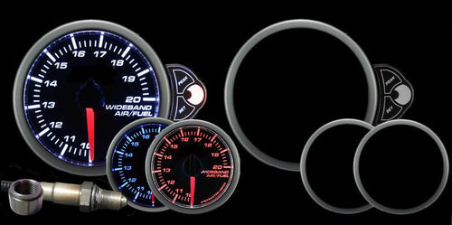 Prosport Halo Wideband Air fuel ratio 52mm Gauge (216HLAFR270-PKWB4.9-WO) - Modern Automotive Performance