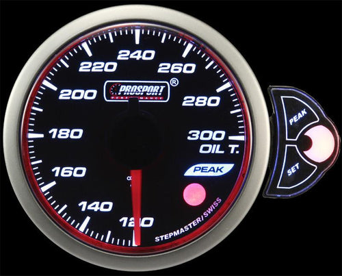 Prosport Premium Halo Series 52mm Oil Temperature Gauge (216HLOT270-PK.F)