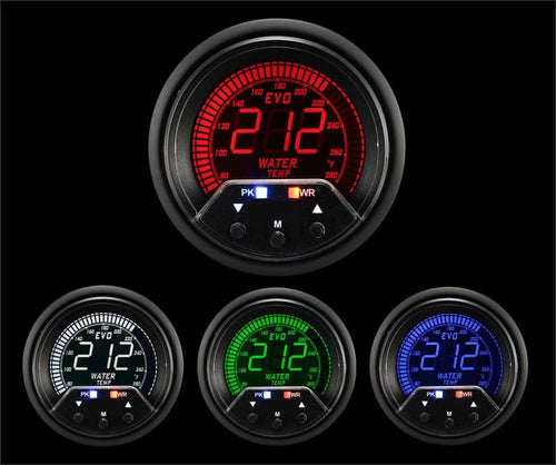 60mm Premium Evo Electrical Water Temperature Gauge (238EVOWT-PK.F) - Modern Automotive Performance