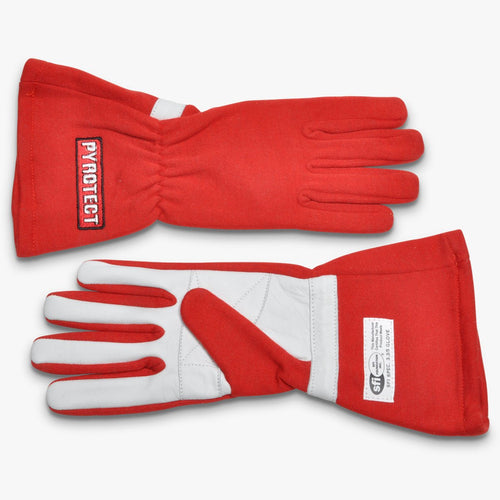Pyrotect SFI-5 Sport Series 2-Layer Nomex Racing Gloves - Red (G2002)