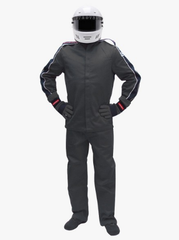 Pyrotect SFI-1 Sportsman Deluxe Two Piece Racing Suit - Black (12J0101+12P0101)