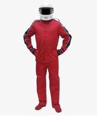 Pyrotect SFI-1 Sportsman Deluxe Two Piece Racing Suit - Red (12J0102+12P0102)
