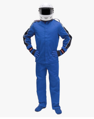 Pyrotect SFI-1 Sportsman Deluxe Two Piece Racing Suit - Blue (12J0103+12P0103)