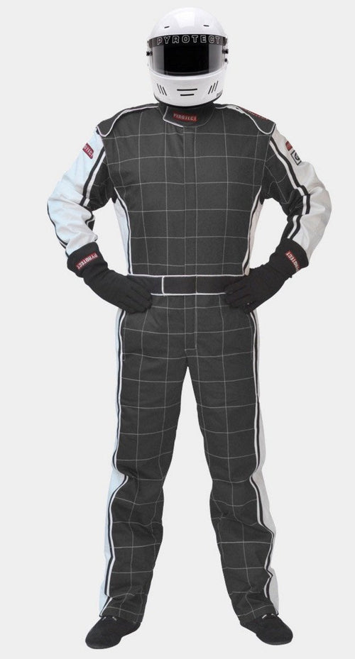 Pyrotect SFI-5 Ultra-1 One Piece Racing Suit - Black/White (220104)