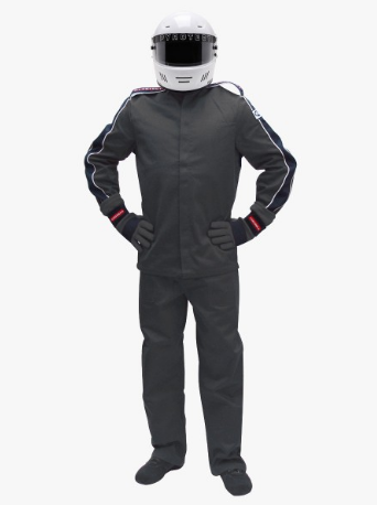 Pyrotect SFI-5 Eliminator Two Piece Racing Suit - Black (22J0101+22P0101)