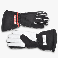 Pyrotect SFI-5 Pro Series 2-Layer Reverse Stitch Racing Gloves - Black (G3010)