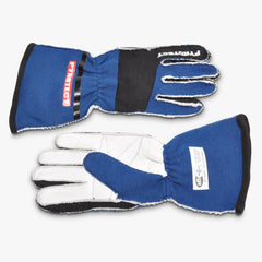 Pyrotect SFI-5 Pro Series 2-Layer Reverse Stitch Racing Gloves - Blue (G3030)