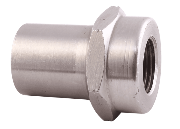 "QA1 3/4"" OD / LH 3/8-24 Thread / .058 Wall Hex Tube Adapter (1845-101)"