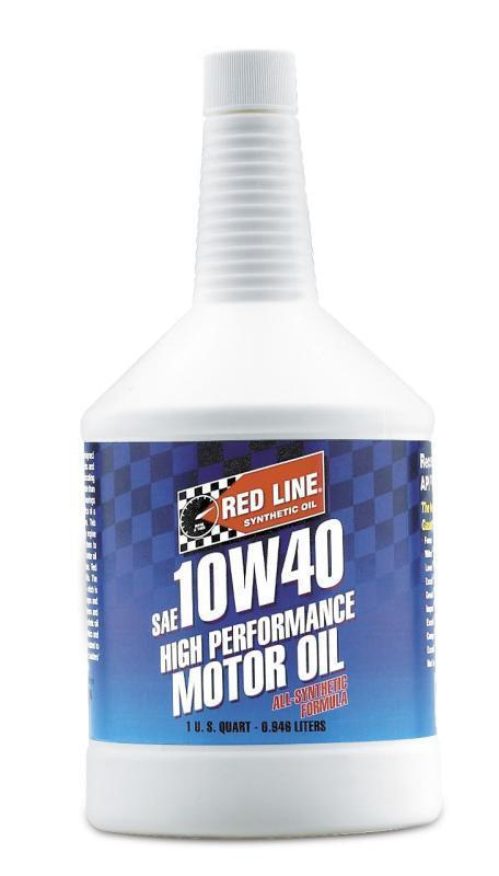Redline Synthetic Motor Oil : 10W40 - 1 Quart (11404)
