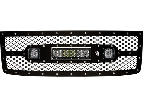 "2011-2013 Grille Kit-10"" E-Series & Pair Dually/D2 by Rigid Industries - Modern Automotive Performance"