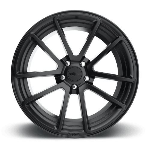 "Rotiform SPF 5x114.3 19x8.5"" +38mm Offset Matte Black Wheels"