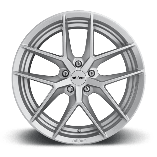 "Rotiform FLG 5x108 18x8.5"" +45mm Offset Gloss Silver Wheels"