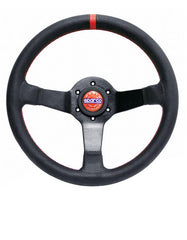 Sparco Champion Black Leather Limited Edition Steering Wheel (015TCHMP)